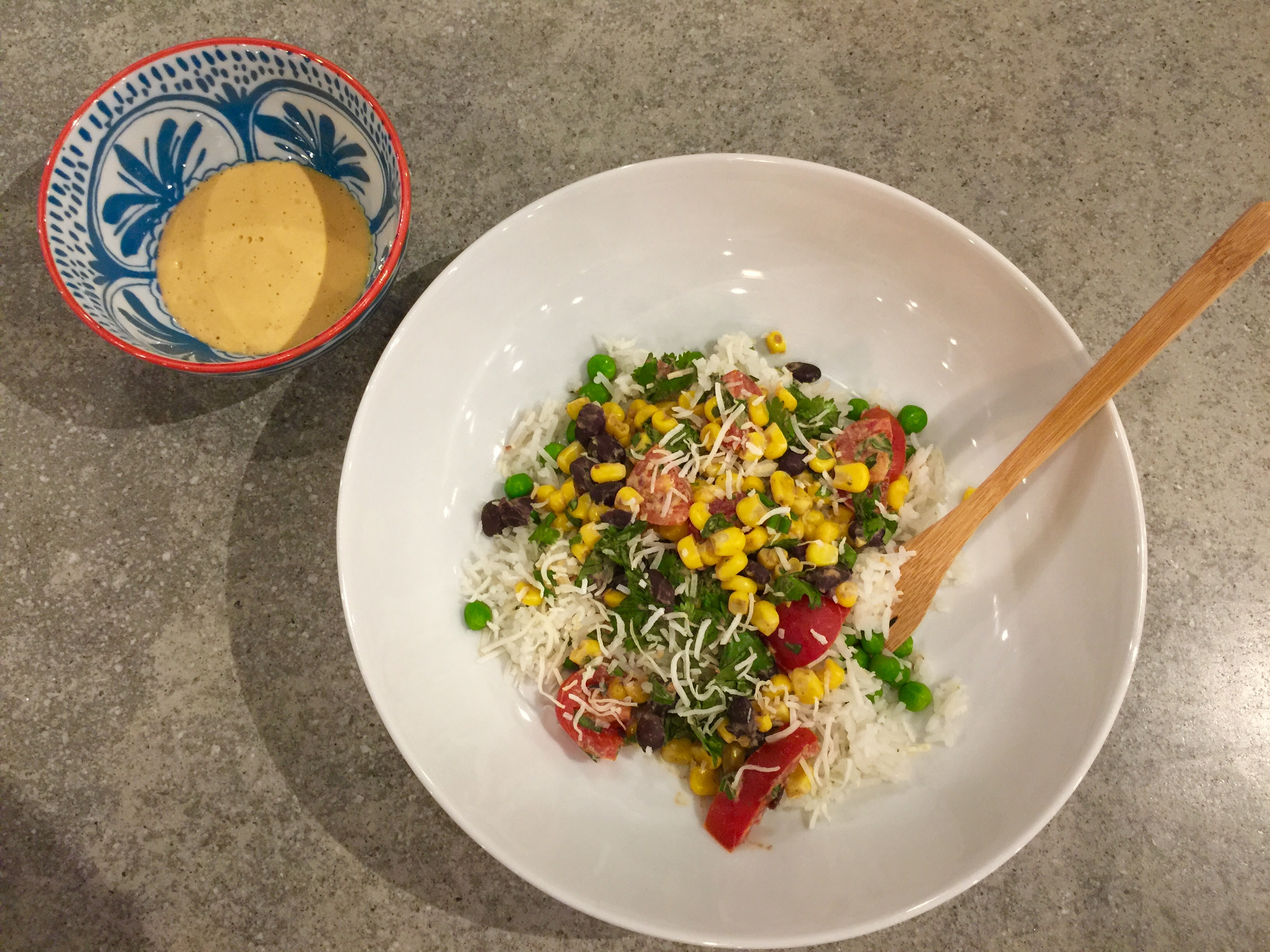 East Meets West Roasted Corn Salad